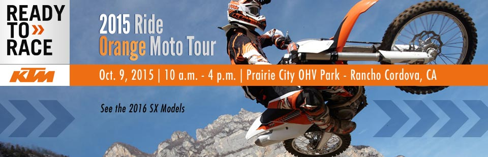 Join us October 9th for the 2015 Ride Orange Moto Tour! Click here for details.