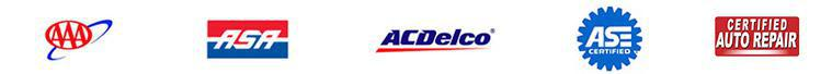 We are affiliated with AAA. We are an ASA shop. We offer products from ACDelco.  Our technicians are ASE certified.  We are a Certified Auto Repair member.