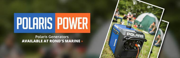 Polaris generators are available at Rond's Marine!