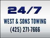 24/7 West & Sons Towing (425) 271-7666