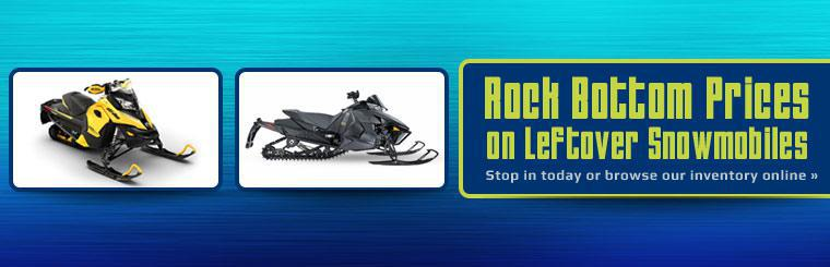 Rock Bottom Prices on Leftover Snowmobiles: Stop in today or browse our inventory online.