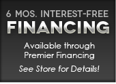 6 Mos. Interest-Free Financing