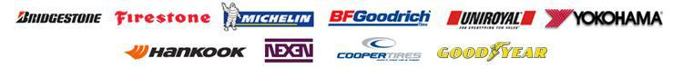 We proudly carry products from Bridgestone, Firestone, Michelin®, BFGoodrich®, Uniroyal®, Yokohama, Hankook, Nexen, Cooper, and Goodyear.