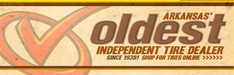 We are Arkansas' oldest independent tire dealer. Click here to shop for tires online.