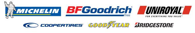 We carry products from Michelin®, BFGoodrich®, Uniroyal®, Cooper, Goodyear, and Bridgestone.