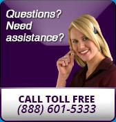 Questions? Need assistance? Call toll free (888) 601-5333.
