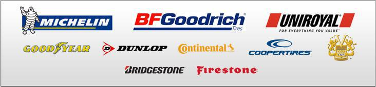 We are proud to feature products from Michelin®, BFGoodrich®, Uniroyal®, Goodyear, Dunlop, Continental, Cooper, Vogue, Bridgestone, and Firestone!
