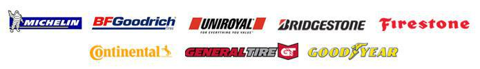 We proudly carry products from Michelin®, BFGoodrich®, Uniroyal®, Bridgestone, Firestone, Continental, General, and Goodyear.