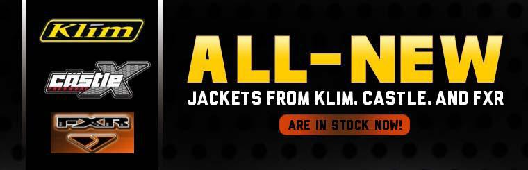 All-new jackets from Klim, Castle, and FXR are in stock now!