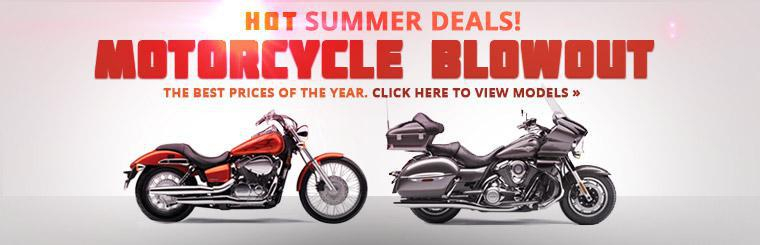 Click here to check out the best prices of the year in our motorcycle blowout sale.