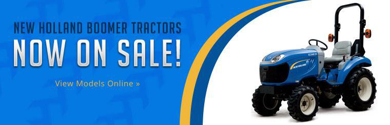 New Holland Boomer tractors are now on sale!