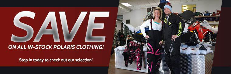 Save on all in-stock Polaris clothing! Stop in today to check out our selection!