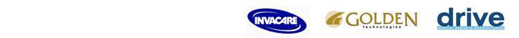 Brands we carry include Invacare, Golden, and Drive.