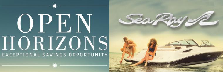 Open Horizons Sales Event: Sea Ray Boats