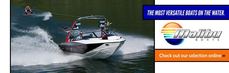 Malibu Boats are the most versatile boats on the water. Click here to check out our selection online.