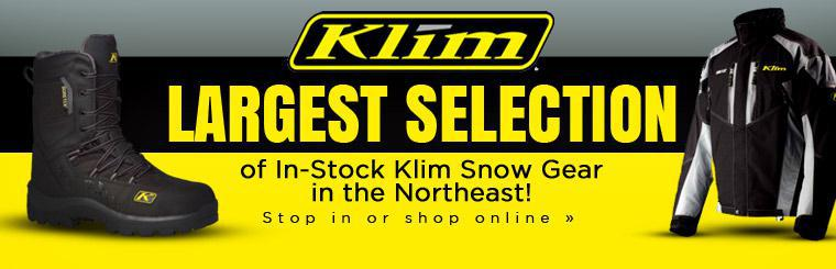 We have the largest selection of in-stock Klim snow gear in the Northeast! Stop in or click here to shop online.