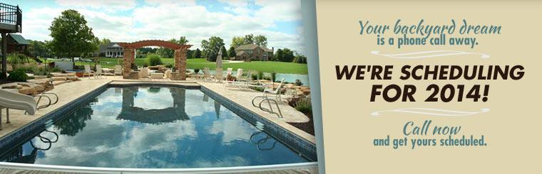 Your backyard dream is a phone call away. We're scheduling for 2014! Call now and get yours scheduled!
