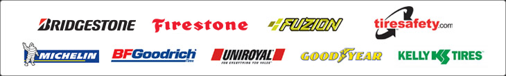 We proudly offer products from Bridgestone, Firestone, Fuzion, Michelin®, BFGoodrich®, Uniroyal®, Goodyear and Kelly Tires. We are affiliated with Tiresafety.com