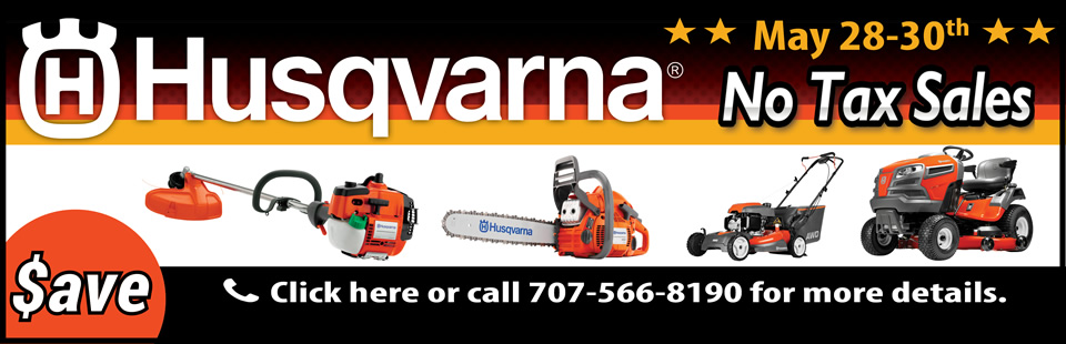 Hendrix Banner ad for Husqvarna No Tax Sales Event