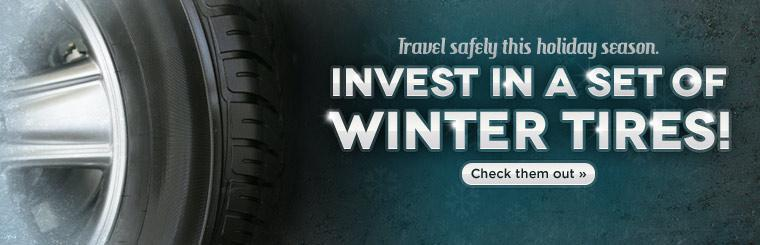 Travel safely this holiday season. Invest in a set of winter tires! Click here to check them out.