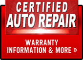 Certified Auto Repair - click here for warranty information & more