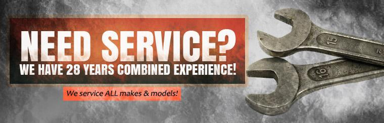 Need service? We have 28 years combined experience! We service all makes and models! Click here to request service.