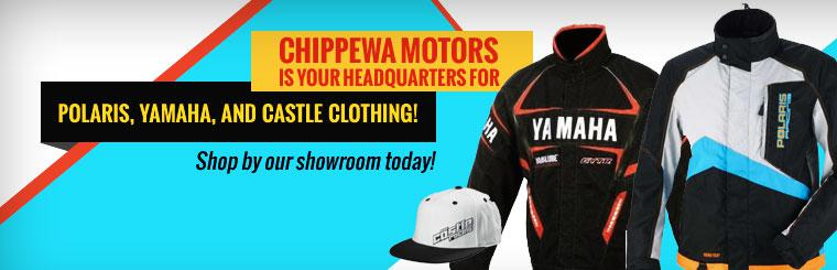 Chippewa Motors is your headquarters for Polaris, Yamaha, and Castle clothing! Shop by our showroom today!