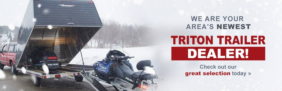 We are your area's newest Triton trailer dealer! Check out our great selection today.