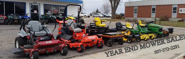 Year End Mower Sale! New & Used 507-372-2291