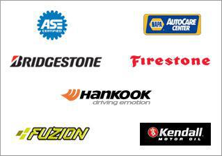 We carry products from Bridgestone, Firestone, Hankook, Fuzion, and Kendall. Our technicians are ASE certified, and we are a an accredited NAPA Auto Care Center.
