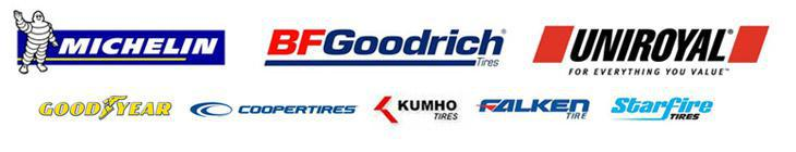 We carry products from Michelin®, BFGoodrich®, Uniroyal®, Goodyear, Cooper, Kumho, Falken, and Starfire.