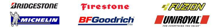We carry products from Bridgestone, Firestone, Fuzion, Michelin®, BFGoodrich®, and Uniroyal®.