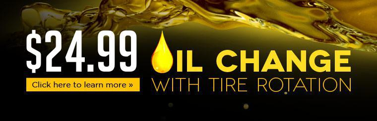 Click  here for a coupon to receive a $24.99 oil change with tire rotation.