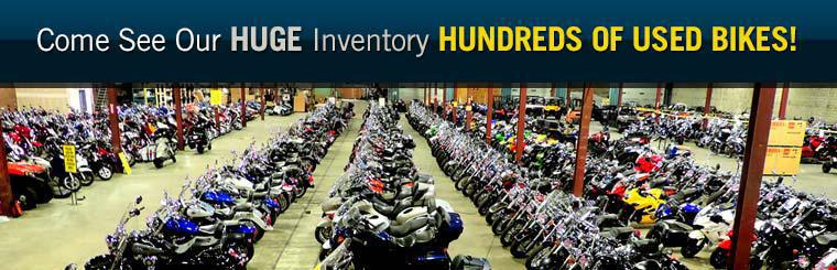 We have hundreds of used bikes in stock! Click here to view the models online.