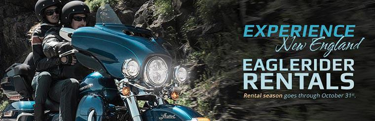 Experience New England with EagleRider rentals. Click for details.
