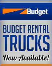 Budget Rental Trucks Now Available!