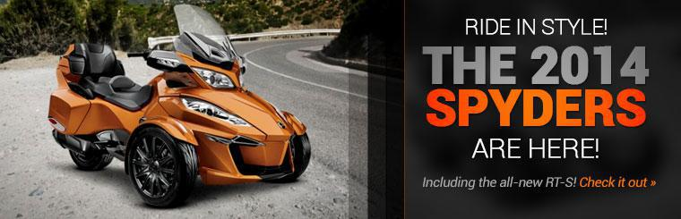 The 2014 Can-Am Spyders are here, including the all-new RT-S!