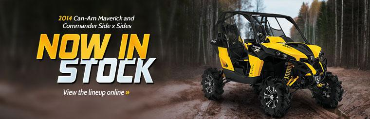 2014 Can-Am Maverick and Commander Side x Sides: Click here to view the lineup.