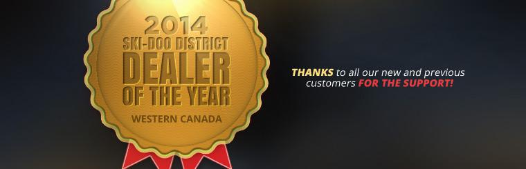 Courtenay Motorsports is the 2014 Ski-Doo District Dealer of the Year! Thanks to all our new and previous customers for the support!