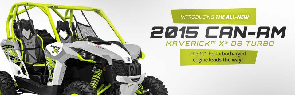 2015 Can-Am Maverick™ X® ds TURBO: Check out the model here.