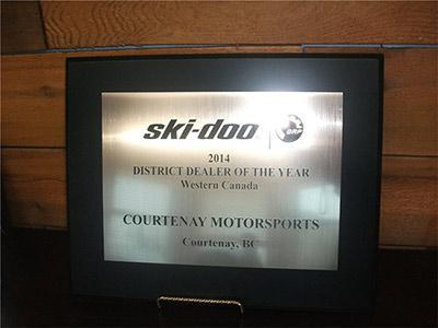 2014 Ski-Doo District Dealer of the Year