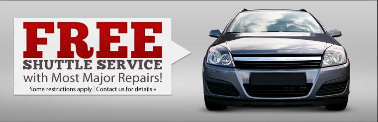 Get free shuttle service with most major repairs. Some restrictions apply. Click here to contact us for details.