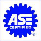 We have ASE certified technicians.