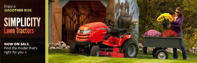 Simplicity lawn tractors are now on sale. Click here to find the model that's right for you.