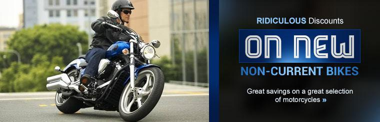 Click here to view ridiculous discounts on a great selection of new non-current motorcycles.