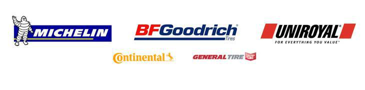 We offer products Michelin®, BFGoodrich®, Uniroyal®, Continental, and General.
