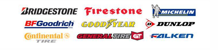 We are proud to feature products from Bridgestone, Firestone, Continental, General, Michelin®, BFGoodrich®, Goodyear, Dunlop and Falken!
