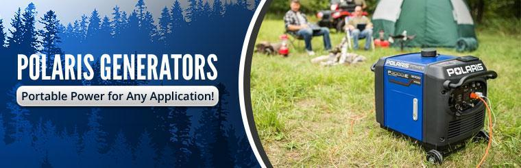 Polaris Generators: Portable power for any application!