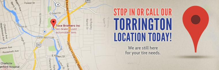 Stop in or call our Torrington location today! We are still here for your tire needs.
