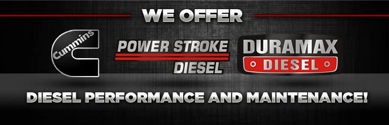 We offer diesel performance and maintenance! Click here to contact us.